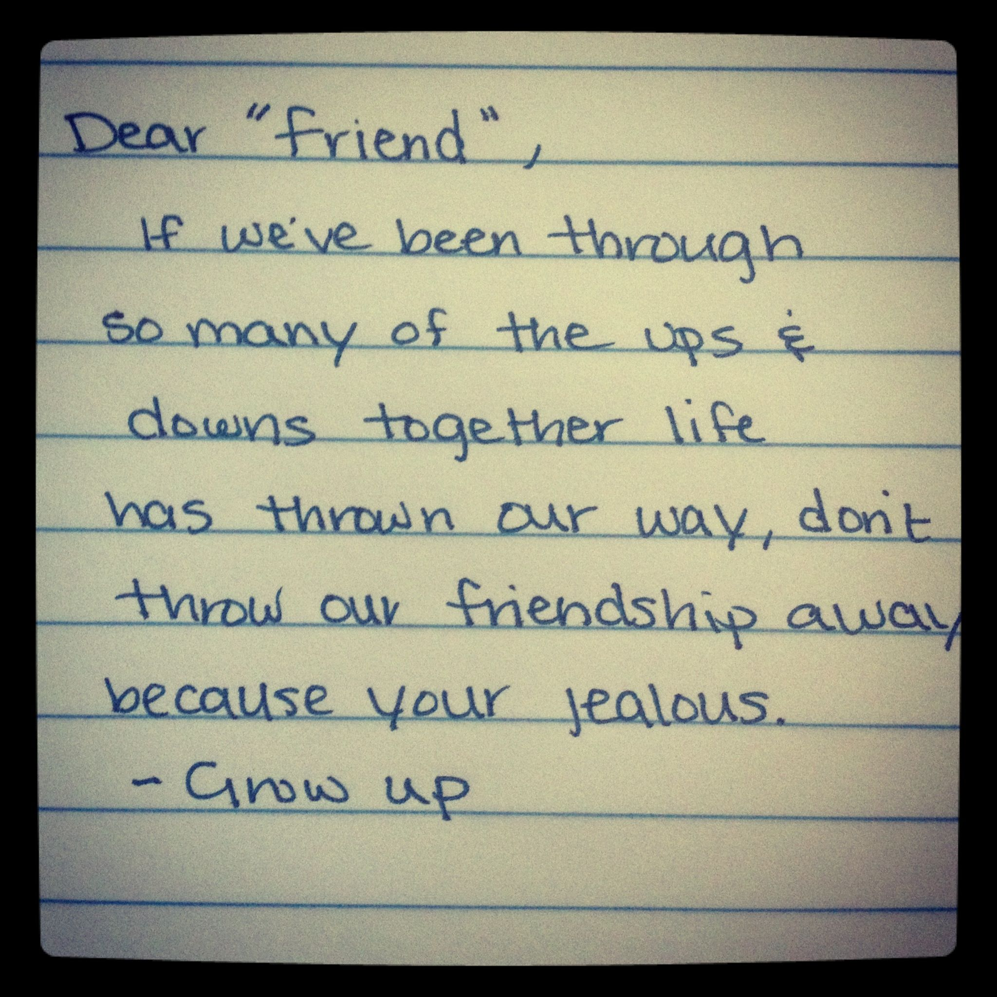 Dearfakefriend.wordpress.com Snarky Funny Quotes About