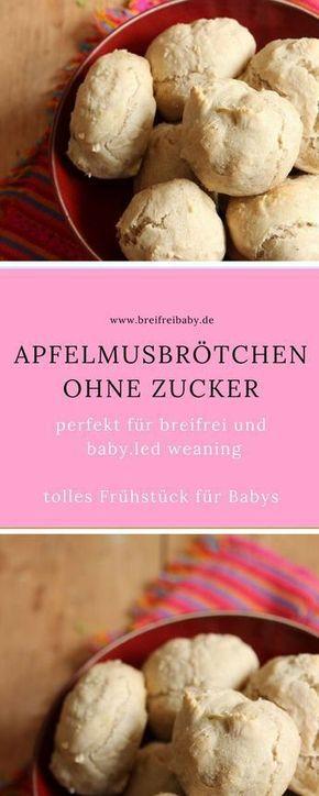 Apfelmusbrötchen für Babys - perfektes Frühstück ohne Zucker