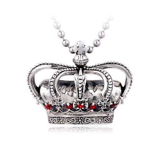 Large vintage crown with diamonds 925 sterling silver pendant large vintage crown with diamonds 925 sterling silver pendant aloadofball Gallery