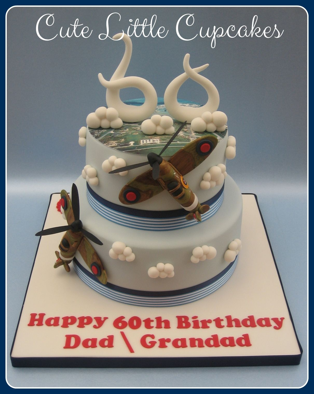 A 2 tier Spitfire inspired design for a 60th Birthday ...