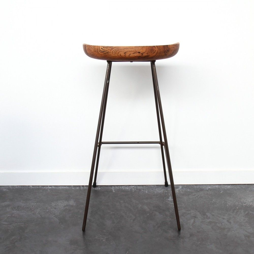 Tabouret M Tal Bois Vintage 76cm Winton Bar Drawers And Metals # Meuble Tv Oldy