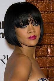 Rihanna with bangs<3