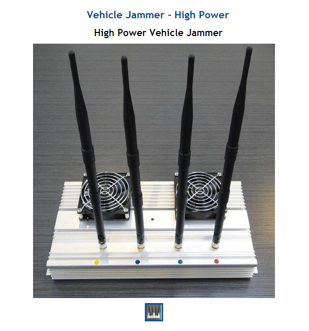 The Vehicle Jammer - High Power is a powerful mobile jammer.  With 45W of total output power, this unit will jamm cell CDMA / GSM / DCS / 3G up to 100 meters.