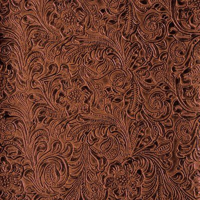 Amazon Com 54 Wide Faux Leather Fabric Tooled Floral Copper By The Yard Arts Crafts Sewing Leather Fabric Fabric Decor Leather Floral