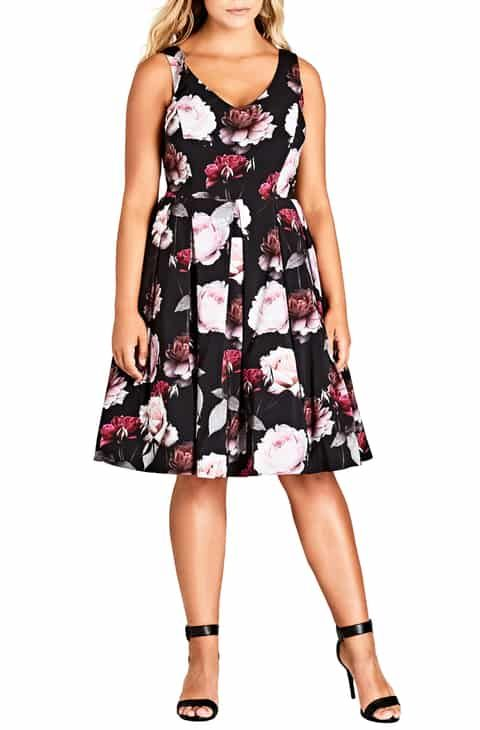 ac2dacaecbd1f City Chic Pretty in Pink Fit   Flare Dress (Plus Size) Online Cheap ...