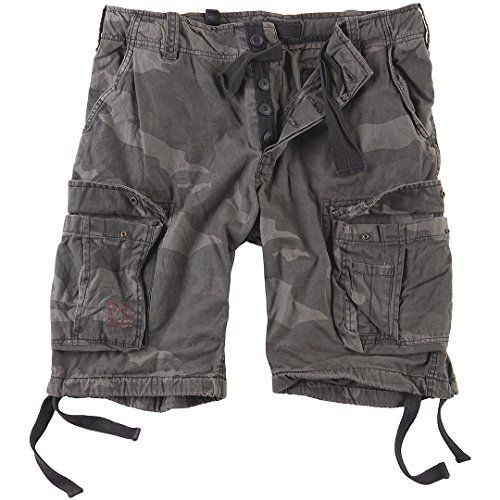 Camp Clothing - Surplus Mens Airborne Vintage Shorts Washed Black Camo *** Continue to the product at the image link.