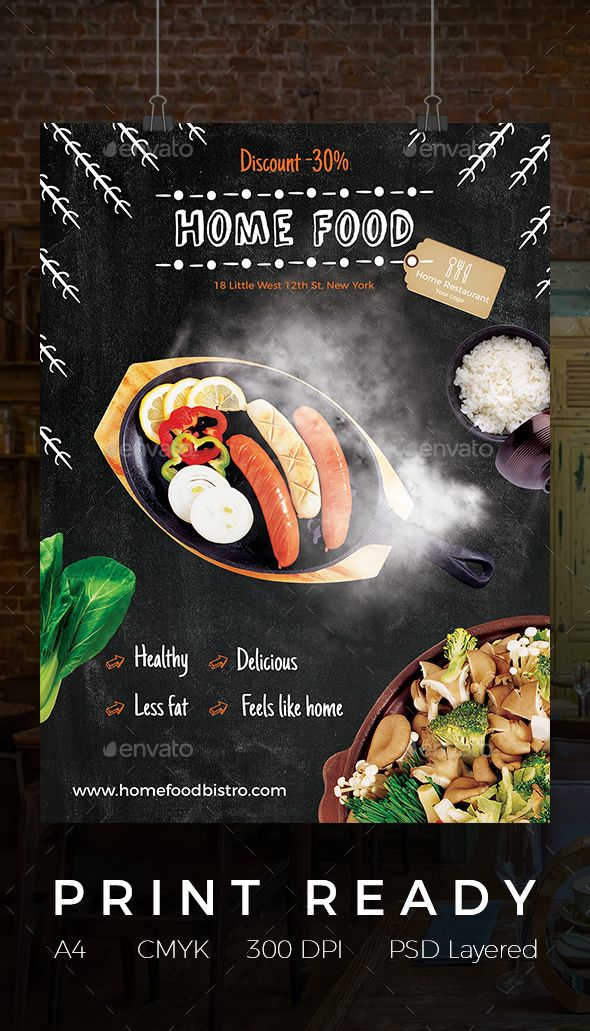 Home Food Flyer Flyer Template Template And Food Posters