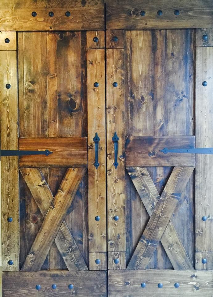 Rustic sliding barn doors at affordable prices split 39 x for Metal barn doors