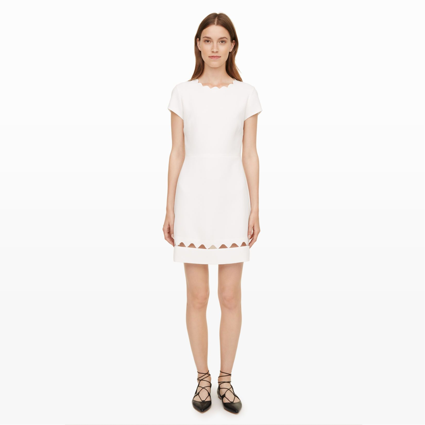 Milancey cutout dress in a subtly textured fabric with a great