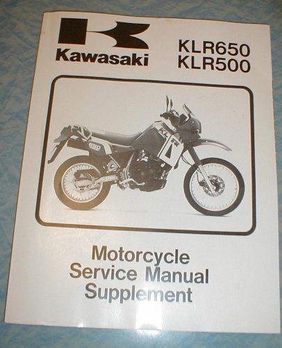 Kawasaki Motorcycle Service Manual Supplement Klr 650 Klr 500 Kawasaki Klr650 Klr500 Service Manual Supplement Kawasaki Motorcycles Klr 650 Kawasaki