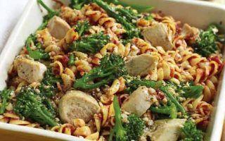 Slimming Worlds turkey, broccoli and pasta gratin