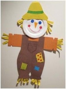 paper plate scarecrow craft idea & paper plate scarecrow craft idea   Scarecrow craft idea for kids ...