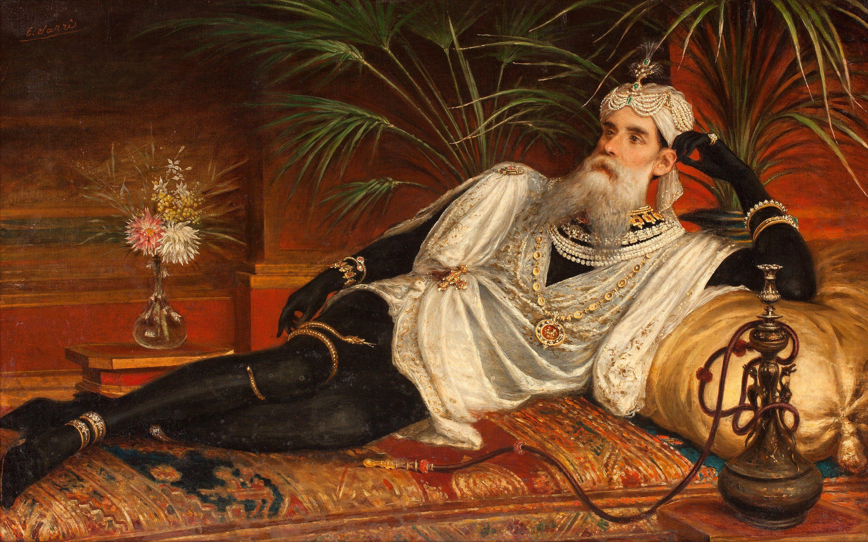 Man On A Divan By Egisto Sarri (Italian 1837 1901)