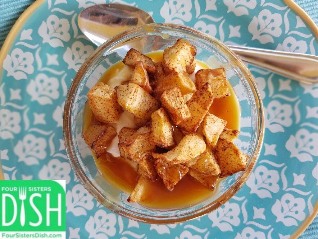 Air Fryer (or Oven) Cinnamon Roasted Apples Recipe in