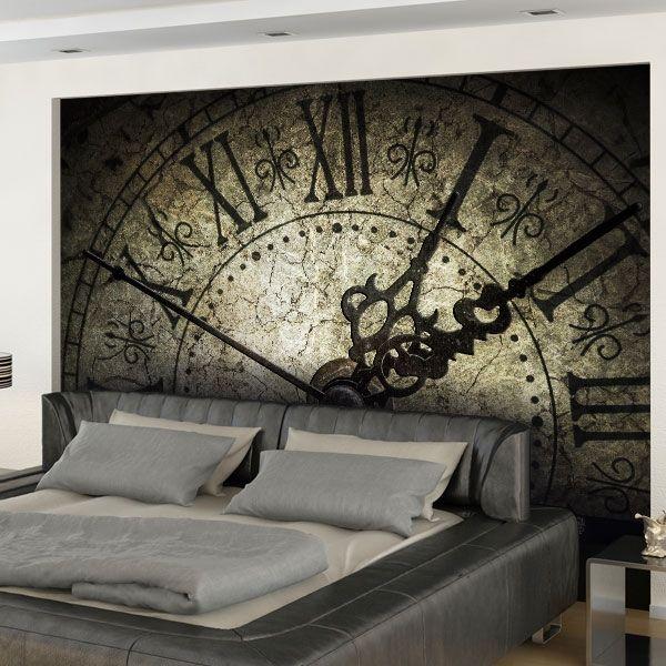 Fotomural personalizado reloj antiguo vinilos - Papel pared antiguo ...