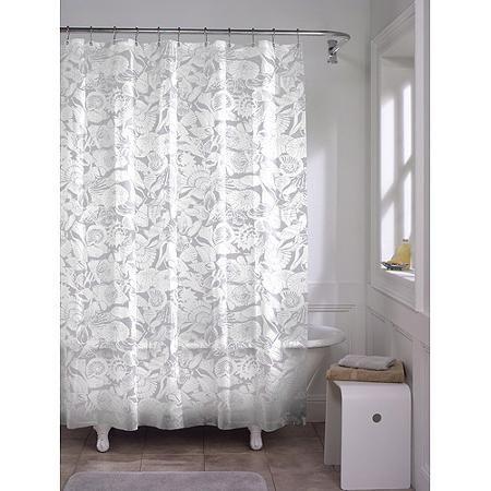 Maytex White Seashell Peva Shower Curtain Walmart Com Vinyl