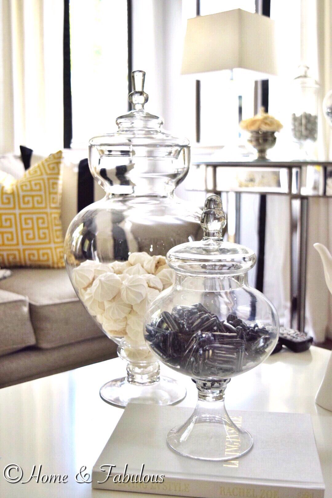 Looking For Something Different To Use As A Table Centerpiece Try These Beautiful Apothecary Jars Kitchen Island Decor Apothecary Jars Decor Apothecary Decor
