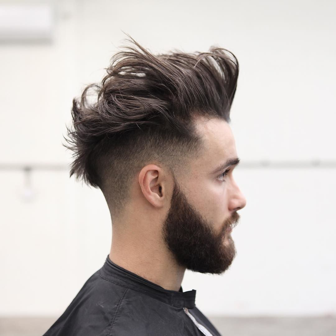 Messy hairs with undercut mohawk short hairstyles pinterest