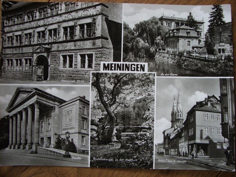 Meiningen Anton Ulrich Strasse Alte Ansichtskarte Postkarte Echt Foto 60er 70e J Meiningen Alte Ansichtskarten Fotos