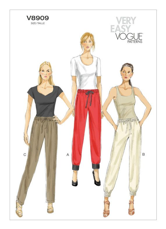 Vogue Sewing Pattern V8909 Women/'s Draw String Trousers