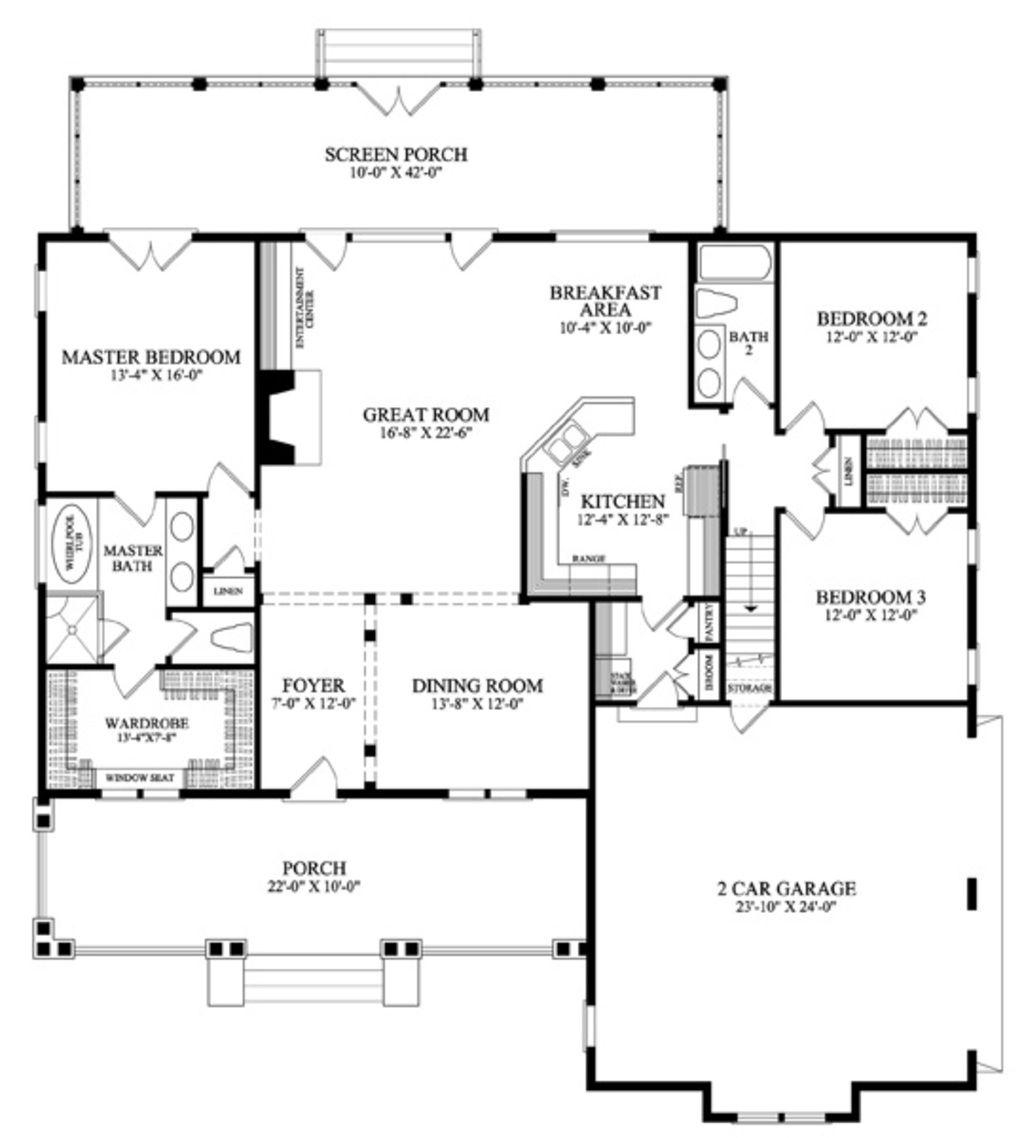 4 Bedroom Bungalow Design Fascinating Craftsman Style House Plan  4 Beds 3 Baths 2465 Sqft Plan #137 Design Inspiration