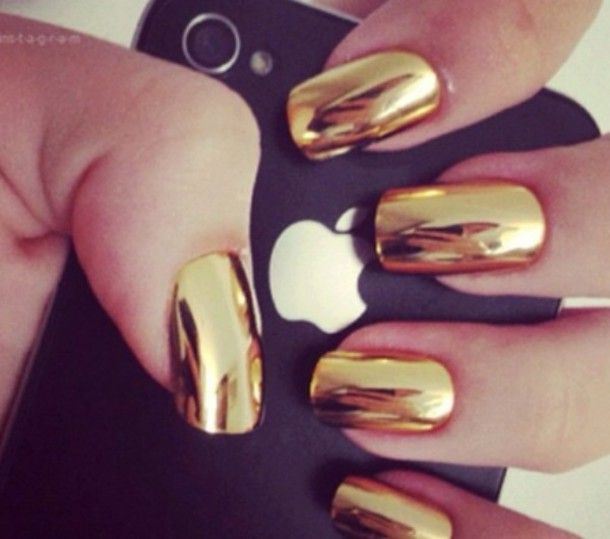 Mirror Effect Nail Polish Gold