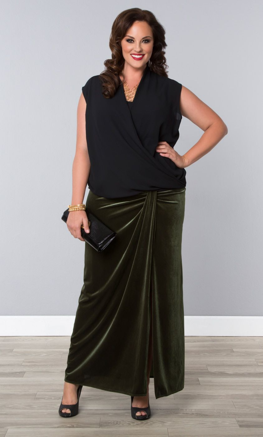 a6f85d518c7 Not looking to RSVP in a dress to your next wedding  Try our plus size Velvet  Opulence Maxi Skirt for a different option. Browse our entire made in the  USA ...