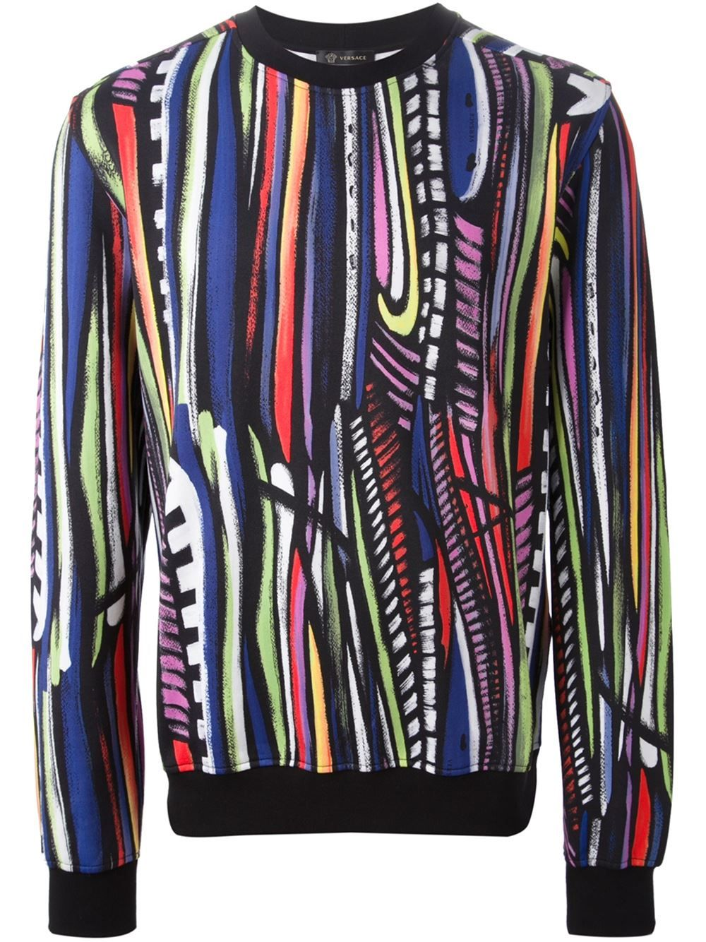 a670202a669e Versace Striped Sweatshirt - Verso - Farfetch.com