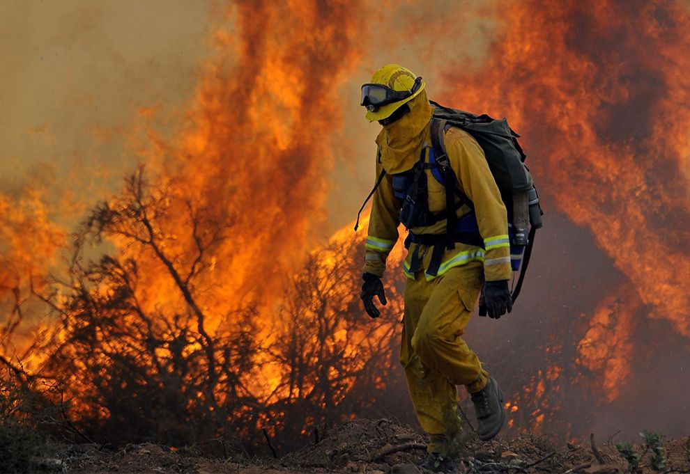 California's Continuing Fires Fire Fighters Fearless