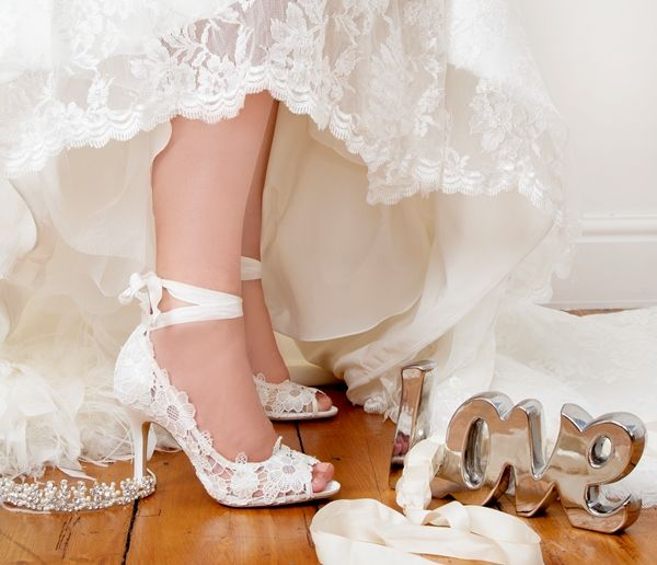 Vintage Bridal Shoes Ivory Lace Style Wedding By Perdita S