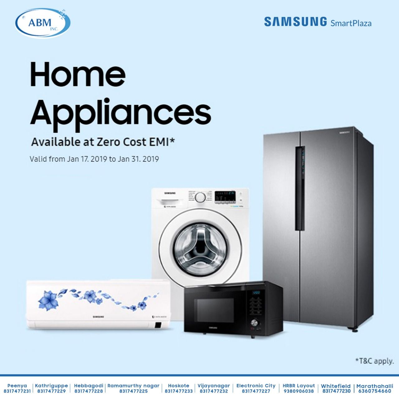 Your Favourite Samsung Home Appliances Now Available At Zero Cost Emi Offer Valid Till 31st Jan 2019 T C Apply Find Your Neare Samsung Home Appliances Smart