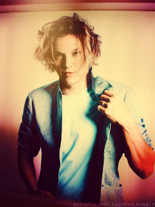 Jamie Campbell Bower, looking very Jace like :)
