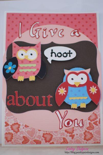 Cricut Valentines Day Cards Paisley Pair Designs Cricut Paisley