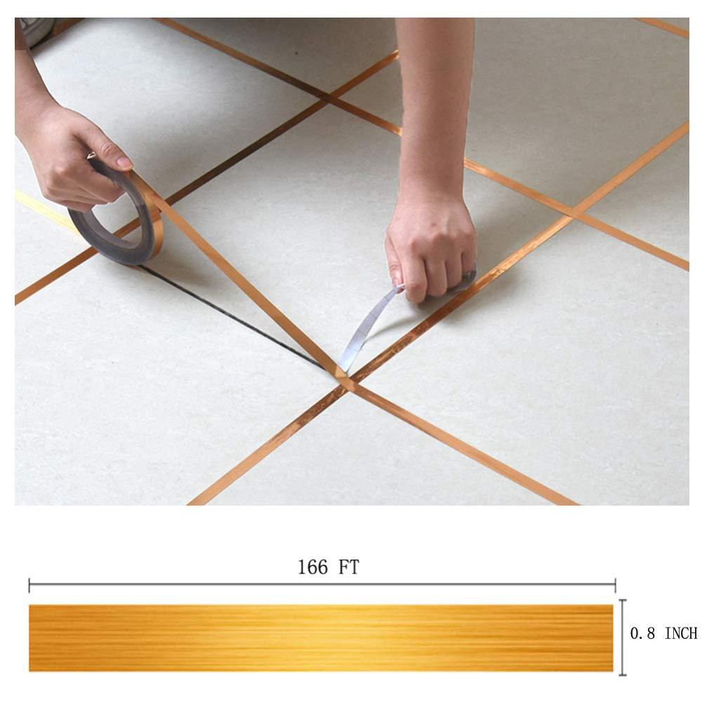 Eanpet 0.4 Inch x 166 Ft Tile Stickers Decorative Floor ...
