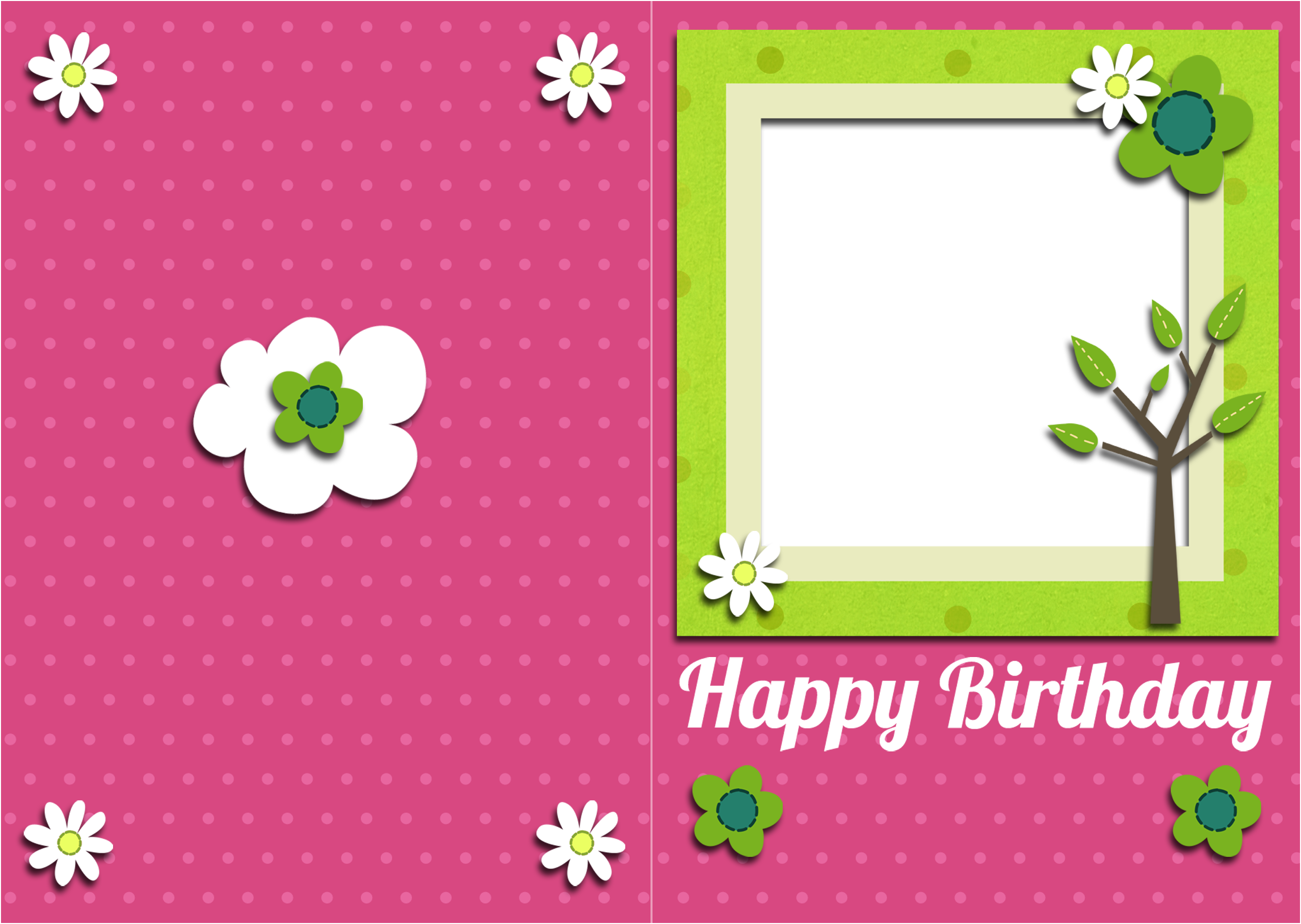 Simple Birthday Cards Printable ~ Free pictures to print printable birthday card and gift tag with space for photo