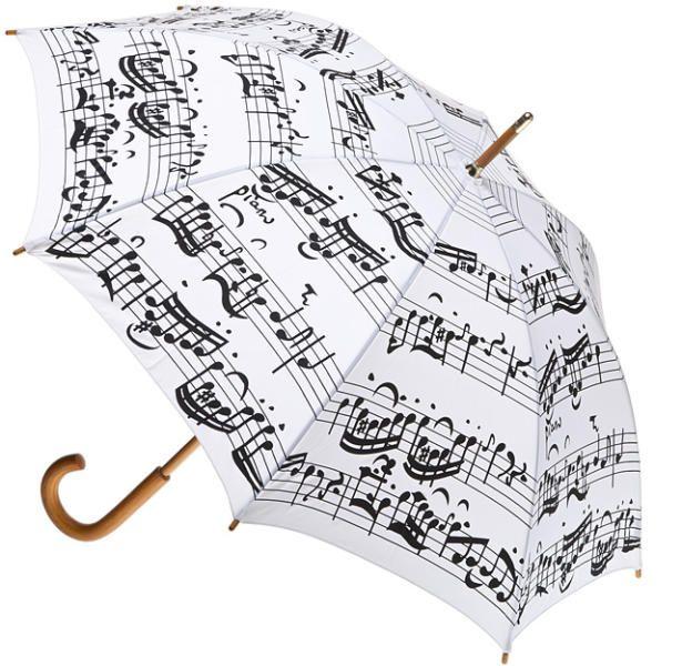 6659f8c15d49 Vásárlás: Elegáns fehér pálcaernyő, fekete hangjegyekkel Esernyő árak  összehasonlítása, Elegáns fehér pálcaernyő fekete
