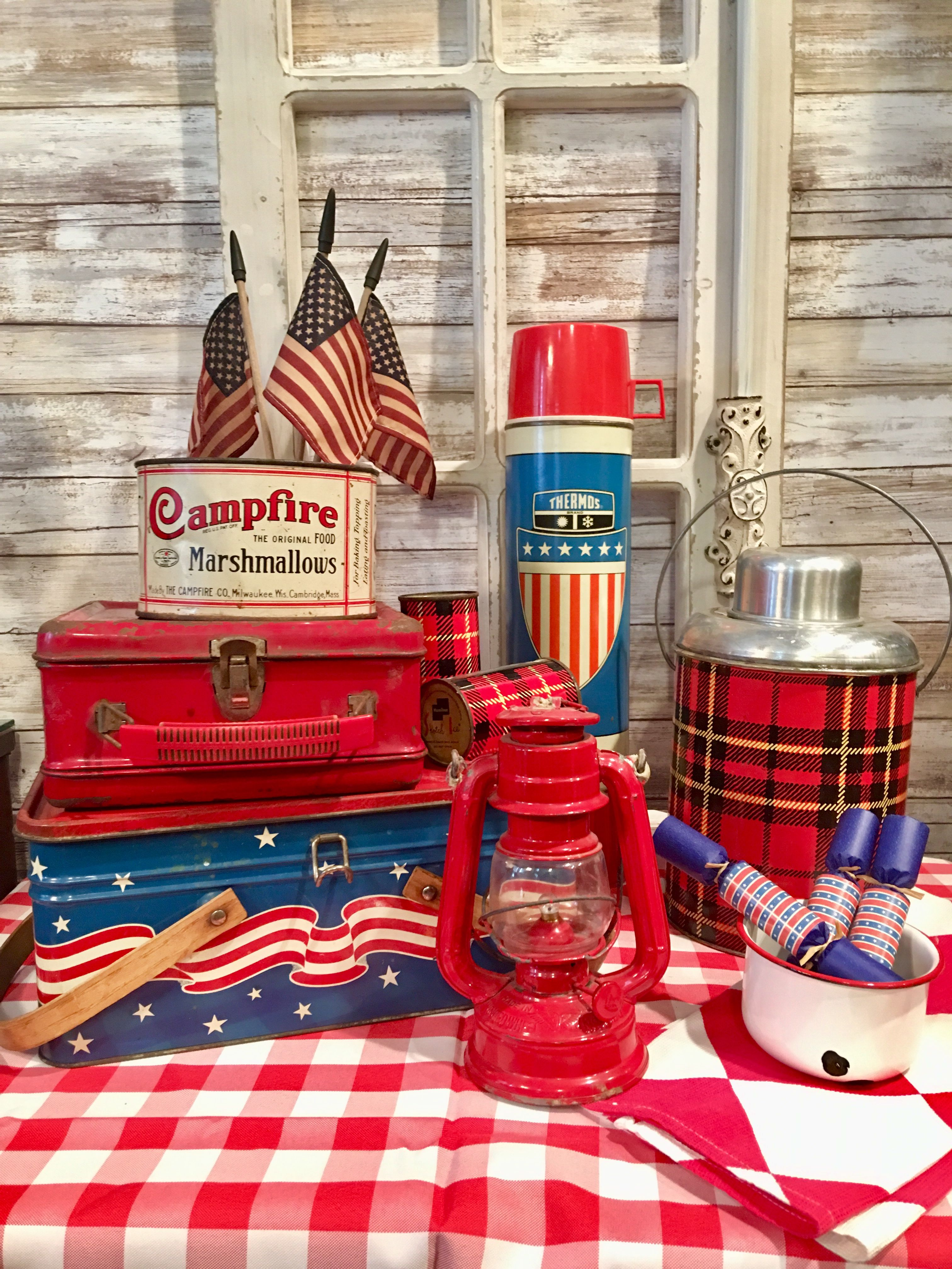 Ready For 4Th Of July Picnic With My Vintage Picnic