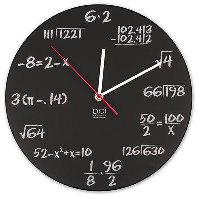 Tick Tock Fun Funky Wall Clocks Qb Blog Math Clock Math Geek Geek Stuff