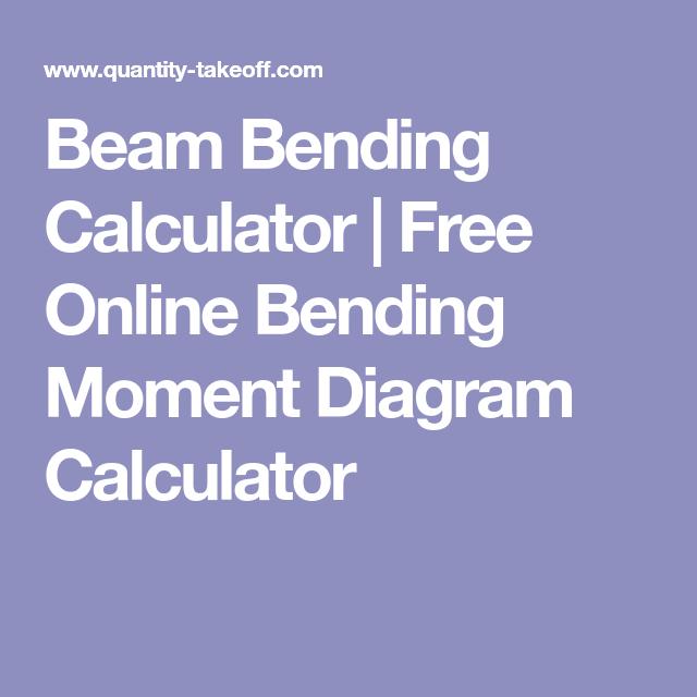 beam bending calculator free online bending moment diagram rh pinterest ca Cantilever Beam Moment Diagram Continuous Beam Moment Diagram