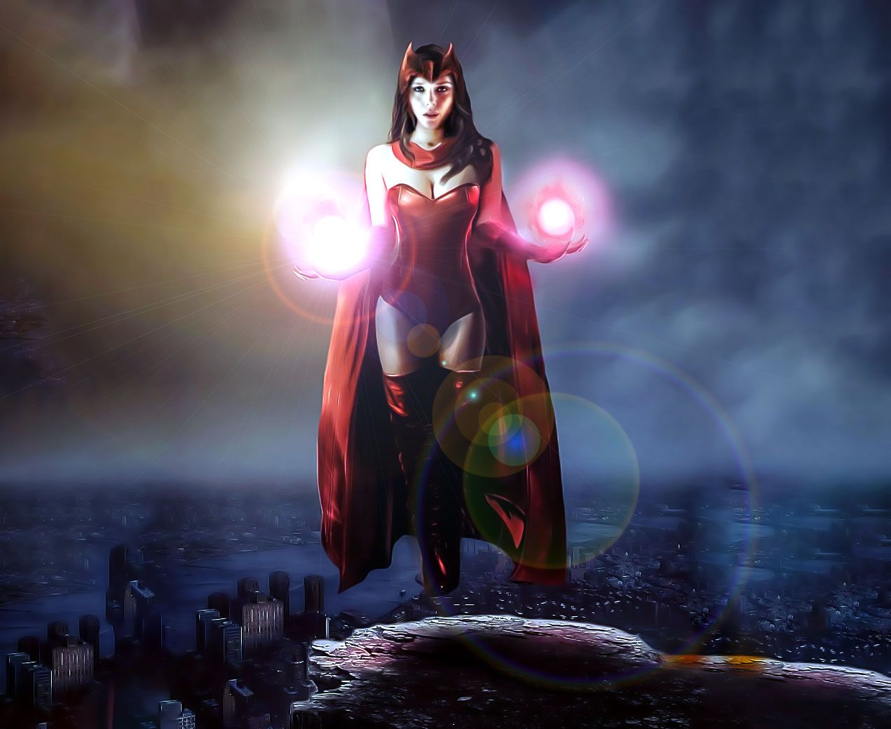 Scarlet Witch Classic Costume Scarlet Witch Wonder Woman Elizabeth Olsen