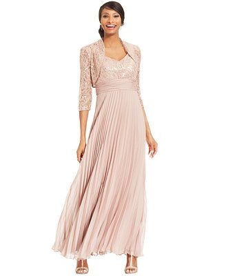 JR Nites Sequin Lace Pleated Gown and Jacket - Macy\'s, $199, \