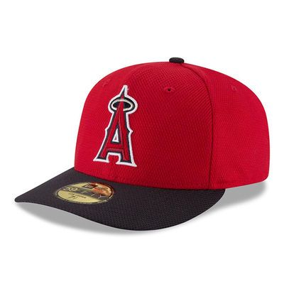 Men s Los Angeles Angels of Anaheim New Era Red Navy Diamond Era Low  Profile 59FIFTY Fitted Hat d367bd01aa72