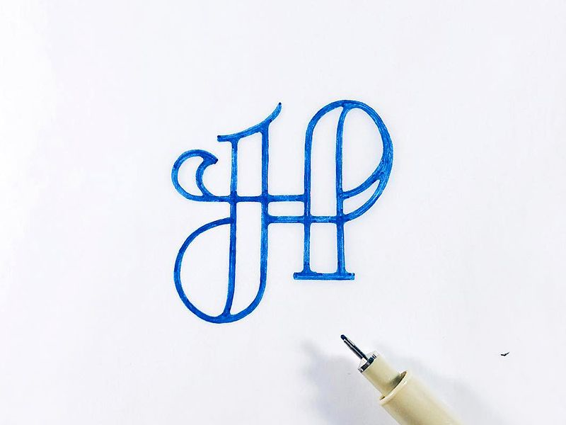 The Letter H H Tattoo Handwritten Typography Lettering