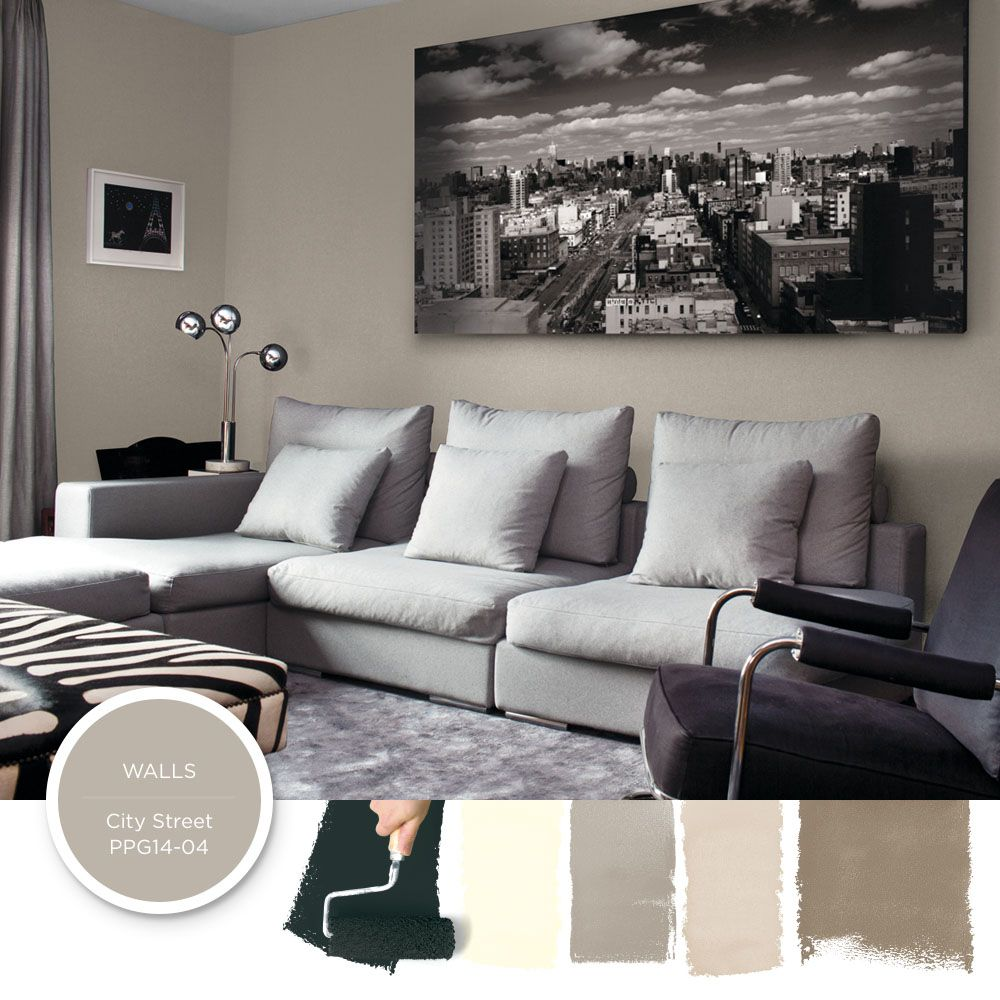 Cool Grey Living Rooms: This Cool Modern Black & Gray Living Room Creates A Chic