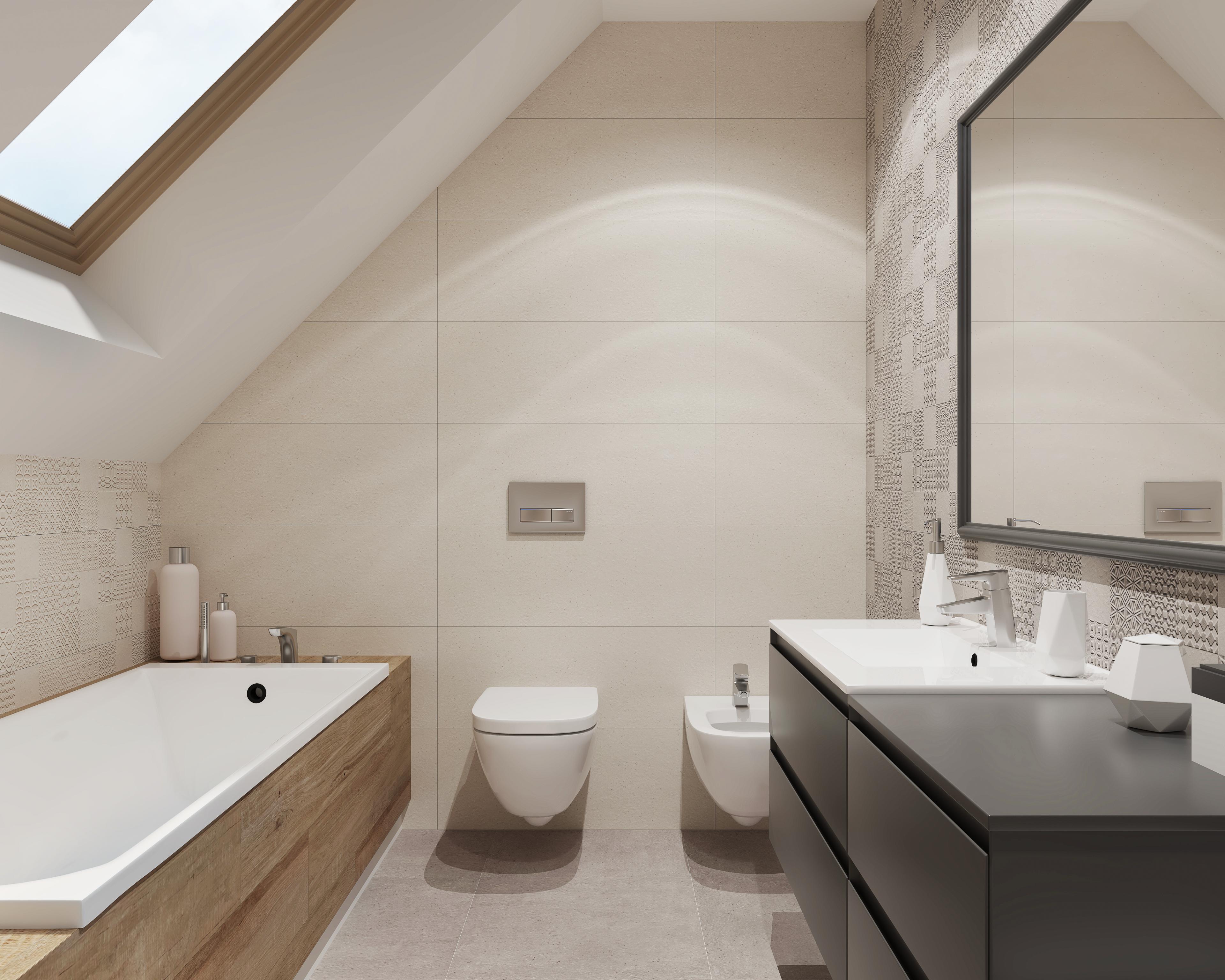 Jasna łazienka Ze Skosem Inspiracje W 2019 łazienka