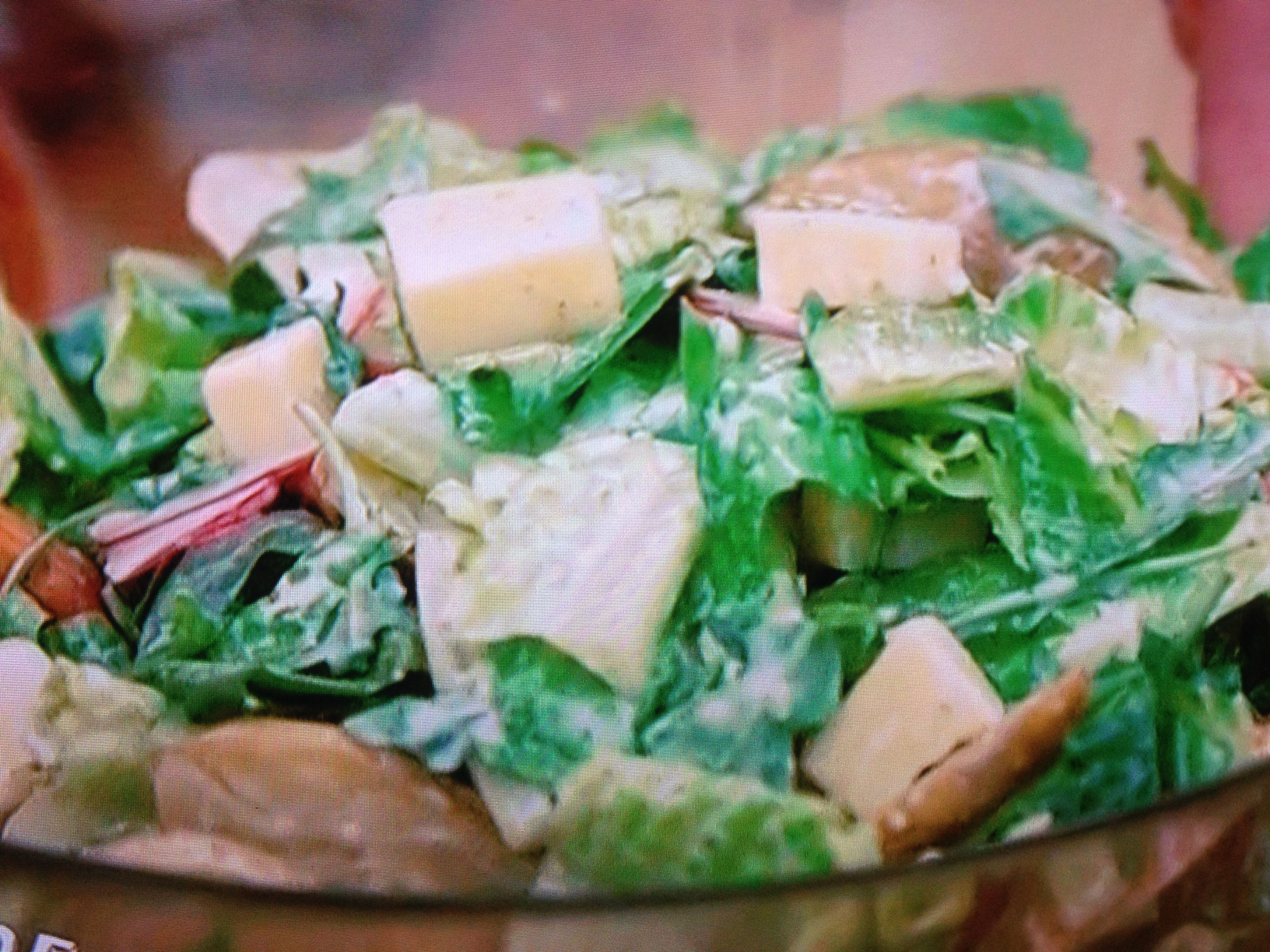 "Nancy Fuller ""Farmhouse Rules"" Garlicky Green salad"