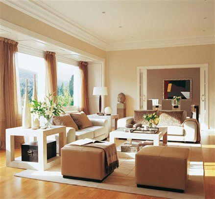 Muebles para salas modernas casas de campo pinterest for Colores de pintura para sala comedor
