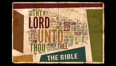 Bible in a word cloud.