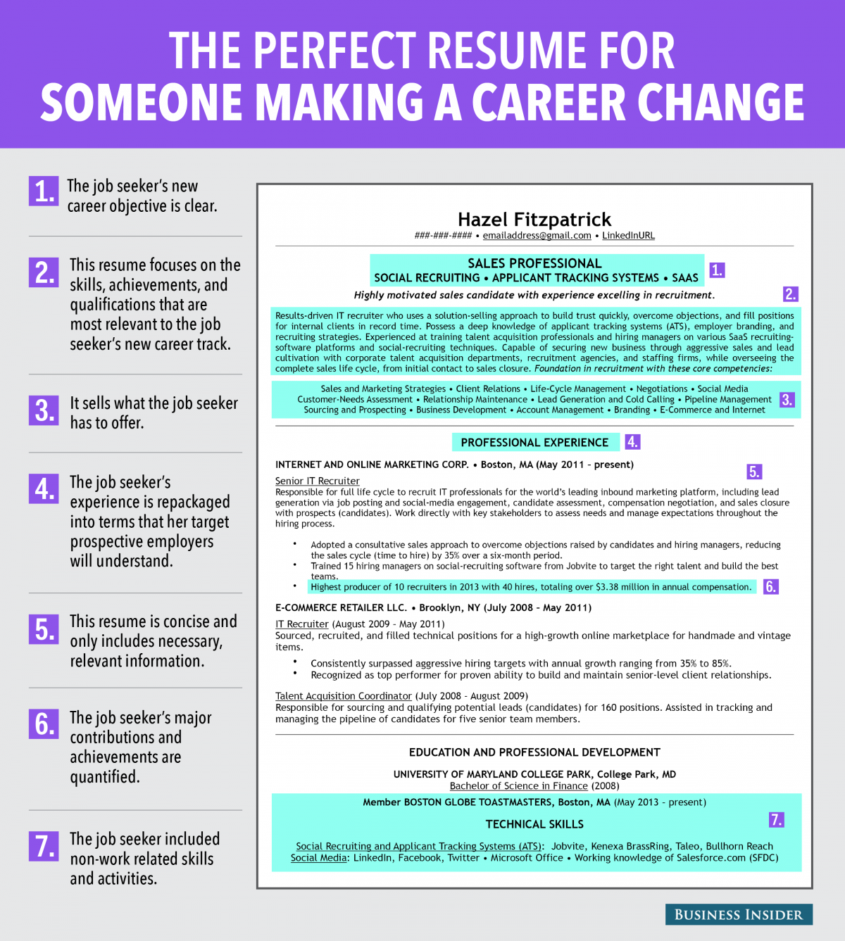 reasons this is an excellent resume for someone making a career 7 reasons this is an excellent resume for someone making a career change business insider