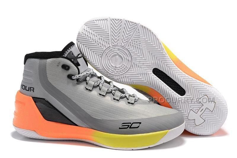 ccc142af9cb 2016 Under Armour Curry 3 SC Mens Basketball Shoes Grey Yellow ...